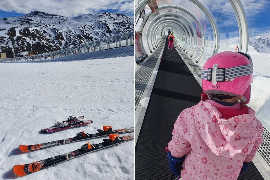 Bij het bergstation Sétaz ligt een beginnersterrein met overdekte transportband