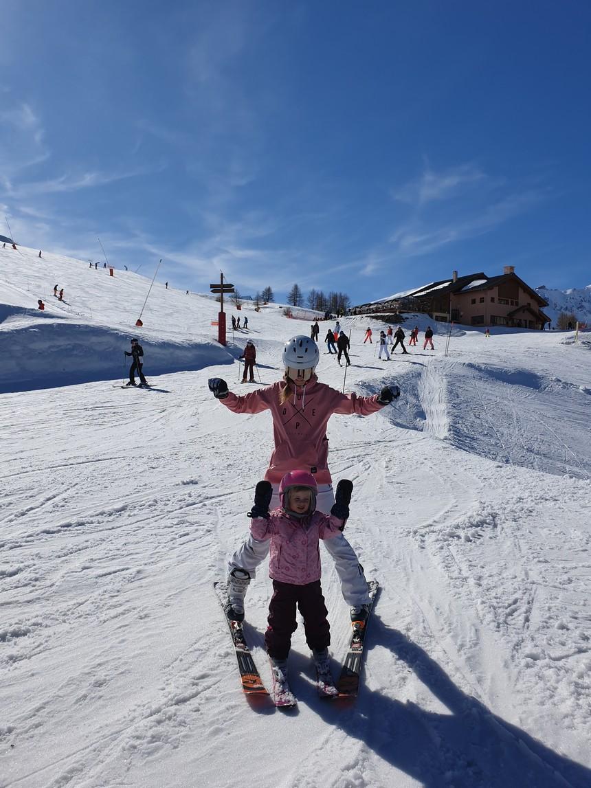 Leren skiën 3 jaar