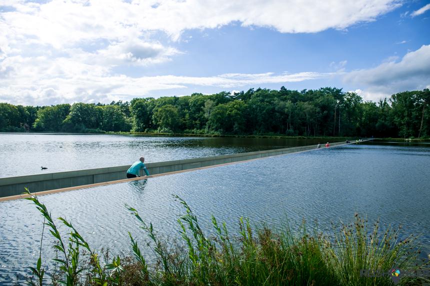 Bokrijk - fietsen door het water