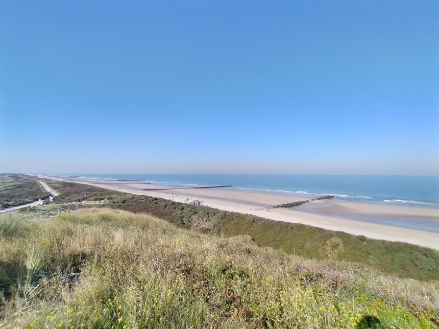 De duinen en het strand van Domburg