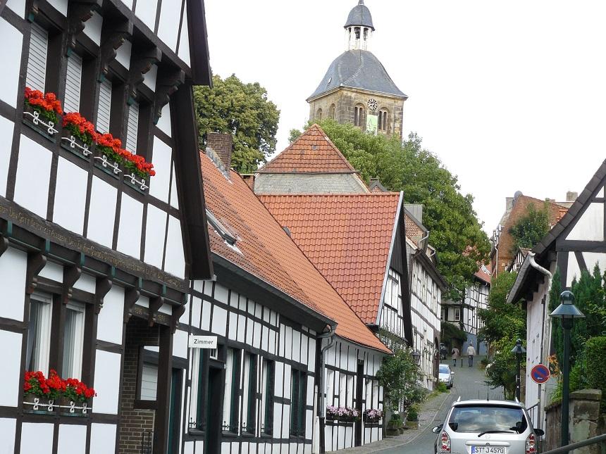 Tecklenburg met perfect gerestaureerde vakwerkhuizen