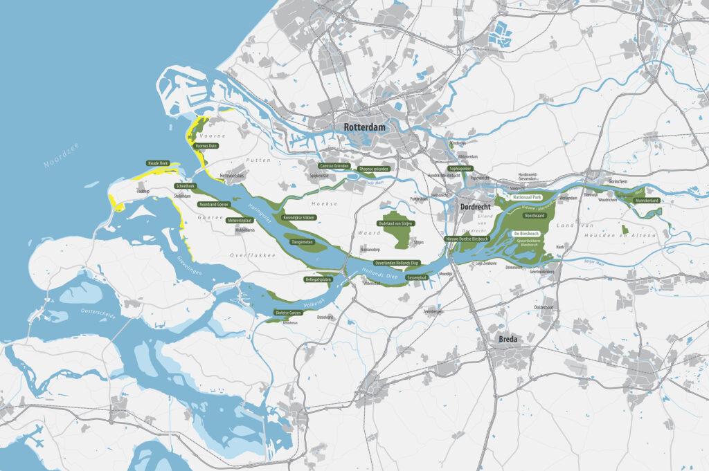Kaart nationaal park NLDelta