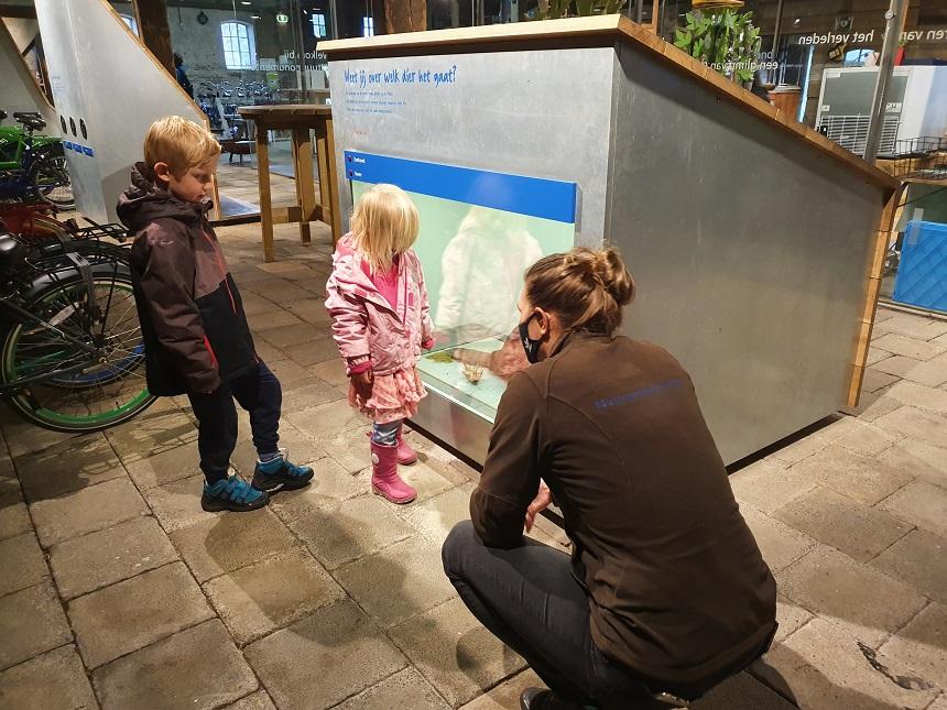 Kinderen zijn welkom in het bezoekerscentrum