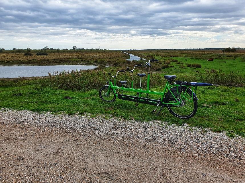 tiengemeten tandem fiets