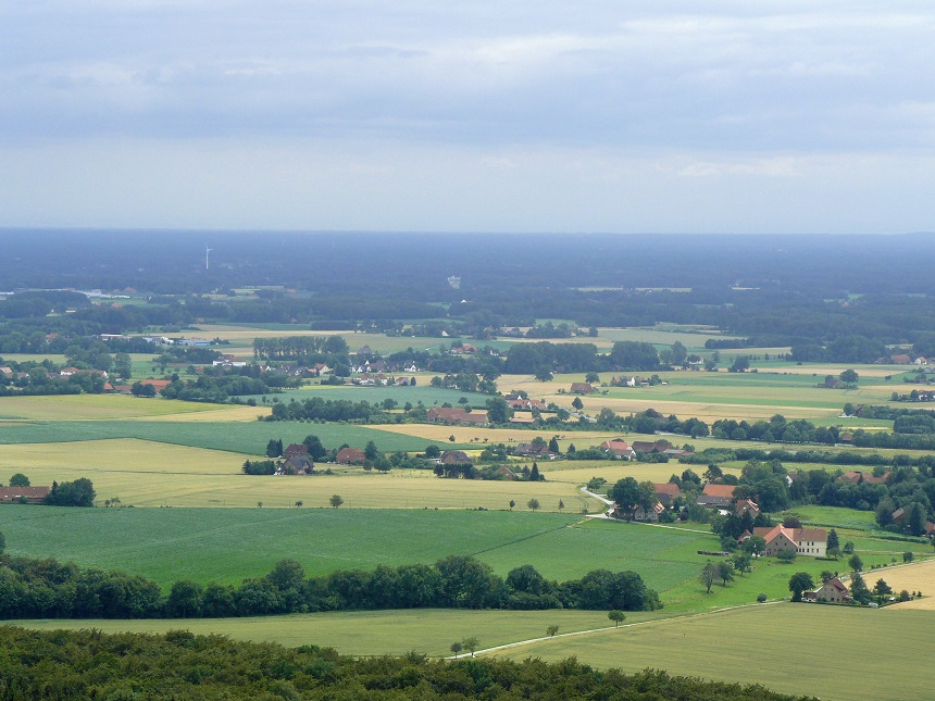 Tecklenburger Land - uitzicht over Noordrijn-Westfalen