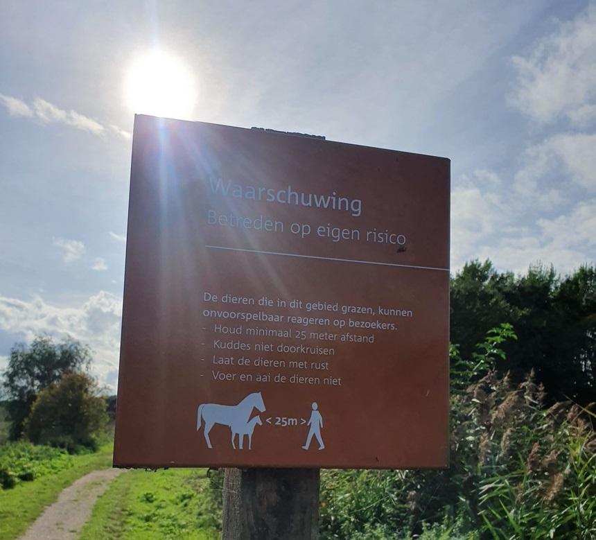 grote grazers waarschuwingsborden