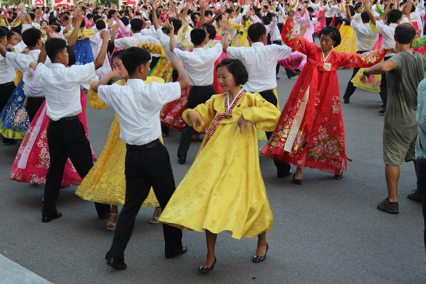 DPRK - Mass Dance Victory Day