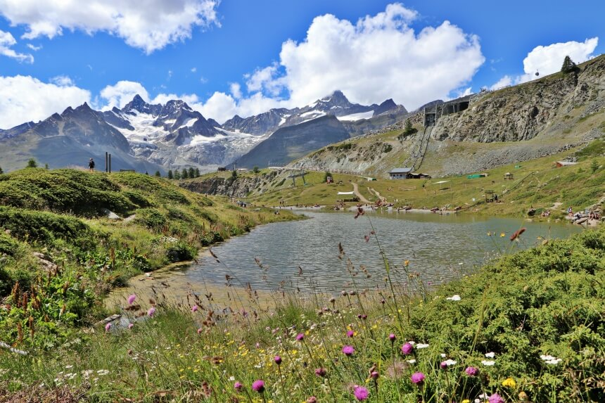 De Five Lakes Trail in Zermatt