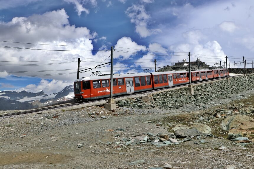 De Gornergrat Railway is de mooiste treinrit van Zermatt