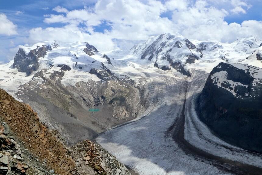 Bij Gornetgrat heb je zicht op tientallen bergtoppen van 4.000 meter of hoger