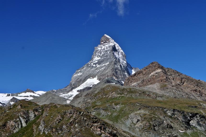 De Matterhorn is een van de bekendste bergen van Zwitserland