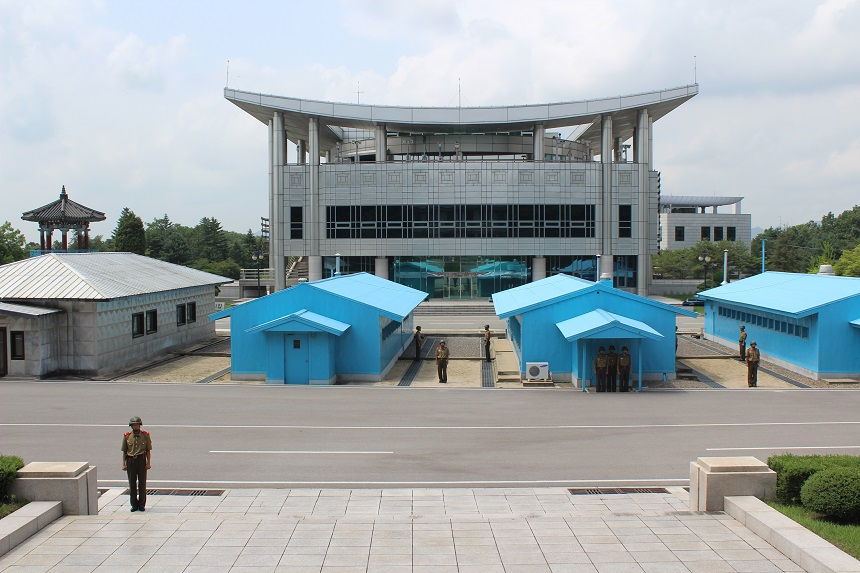 DMZ - blauwe barakken JSA - Noord-Korea
