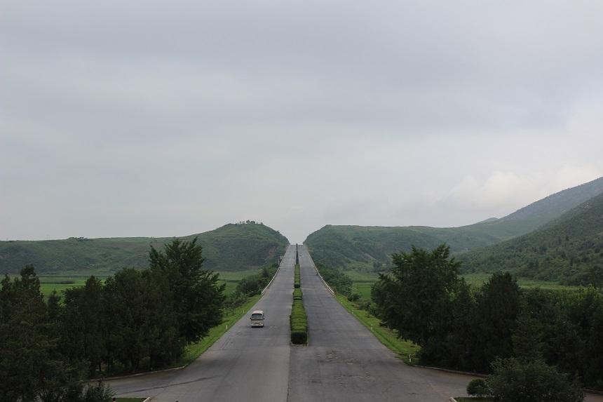Lege snelweg in Noord Korea