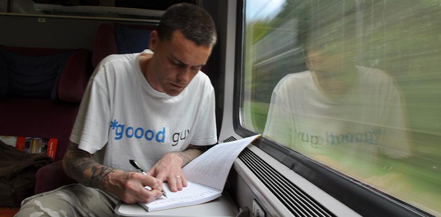 Def P in de trein