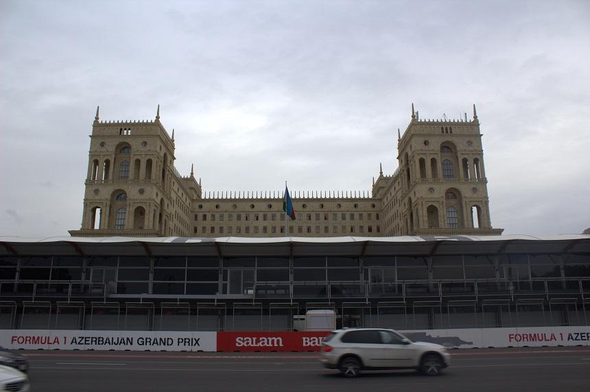 Pitsstraat Grand Prix Bakoe Azerbeidjan