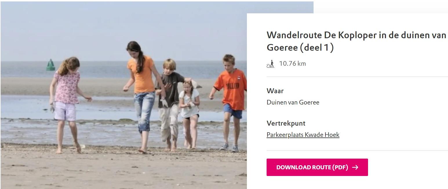 Wandelroute De Koploper in de duinen van Goeree