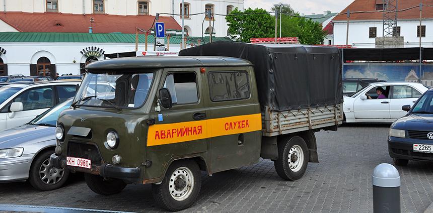 Busje in Moskou