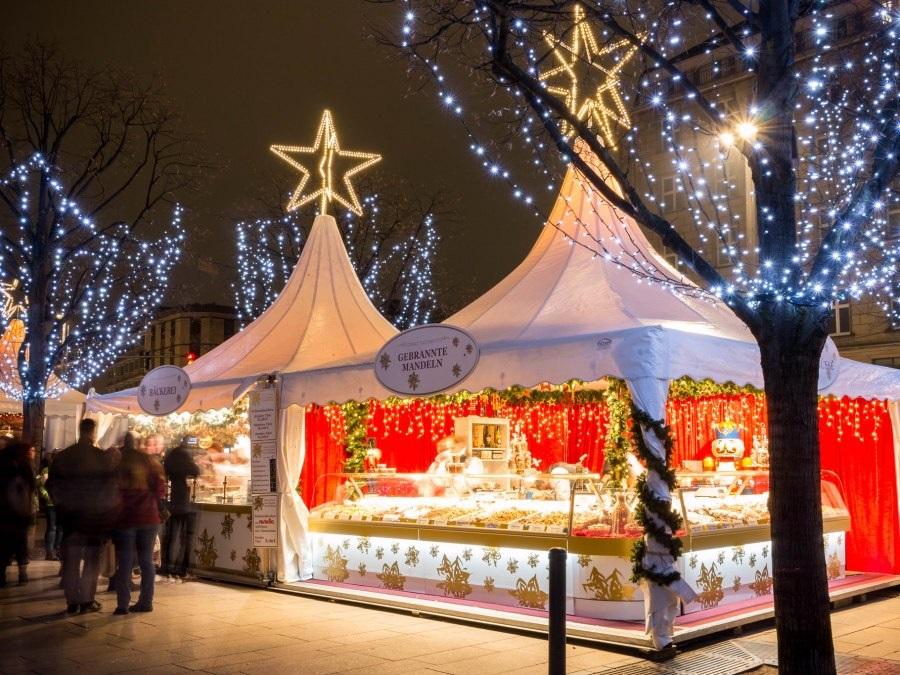 Duitsland kerstmis Gänsemarkt Hamburg