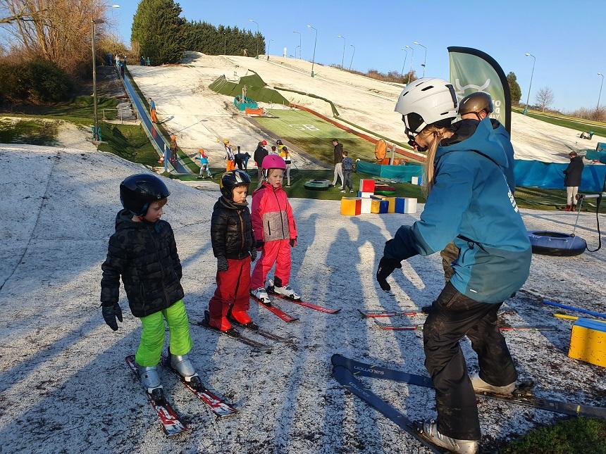 Leren skiën in Nederland