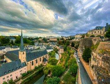 Zwerven door Luxemburg-Stad met kinderen
