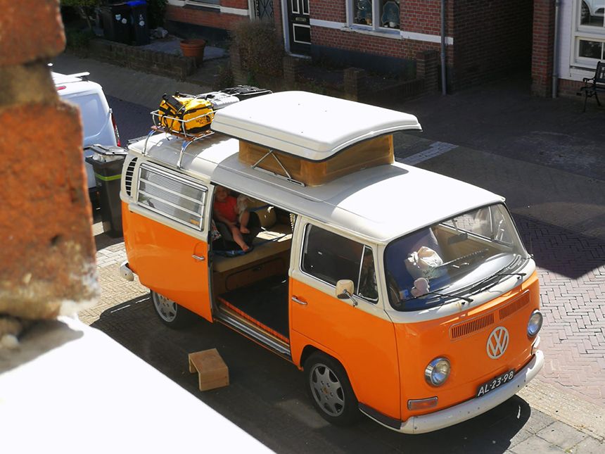 VW bus, T2, roadtrippen Noord-Italië