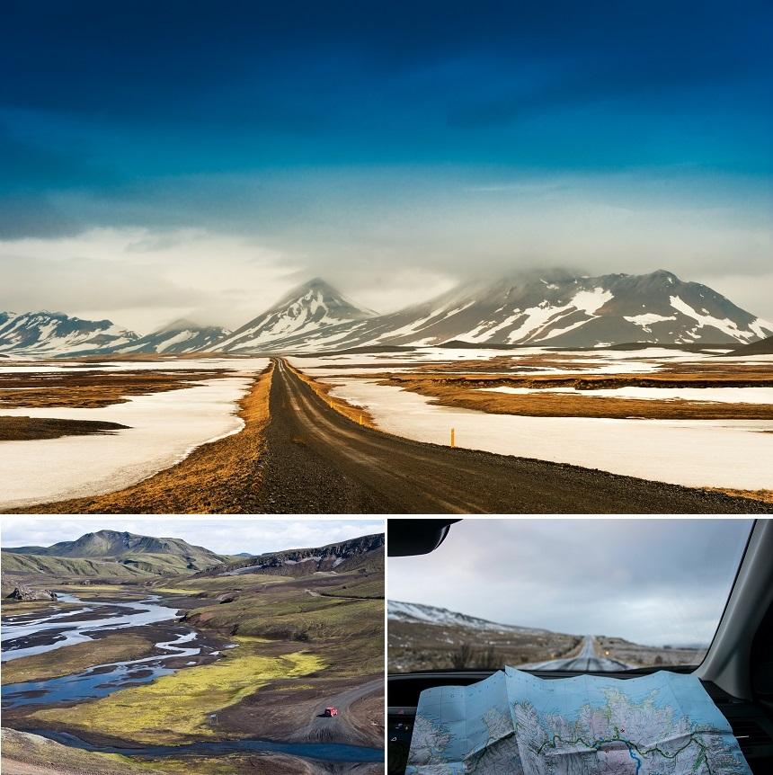 Rondscheuren op de f-roads in IJsland