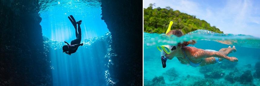 Snorkelen in de Blauwe Grotten en de Blue Lagoon