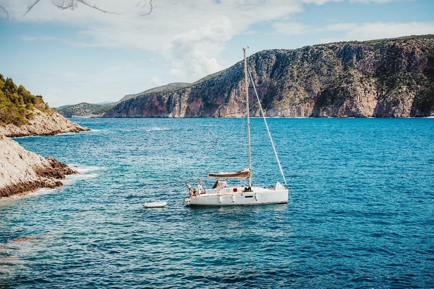 Zomervakantie op een zeilboot (Assos, Kefalonia)