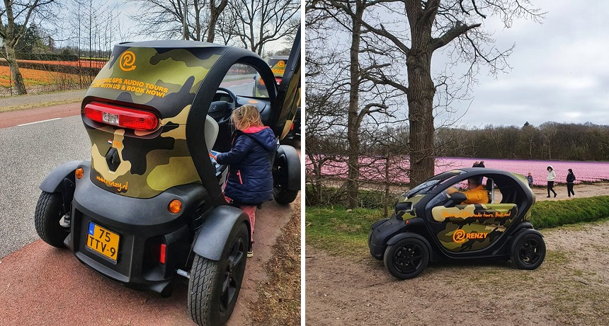 Cool outing: with an open Twizy on a tulip tour via Renzy