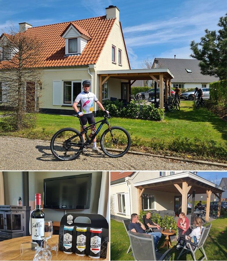 Genieten van een speciaal fietsbiertje op het eigen terras - Koerspret