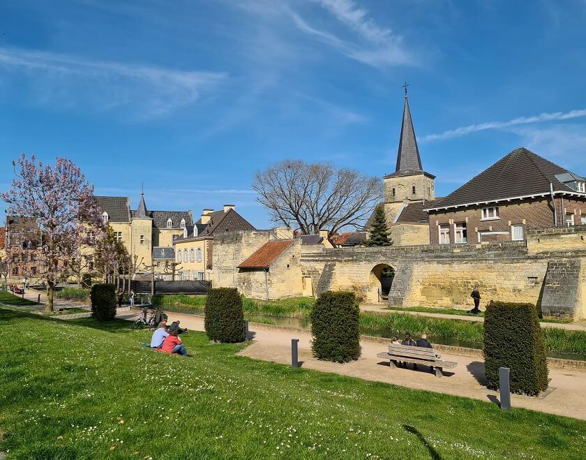 Het oude historische centrum van Valkenburg