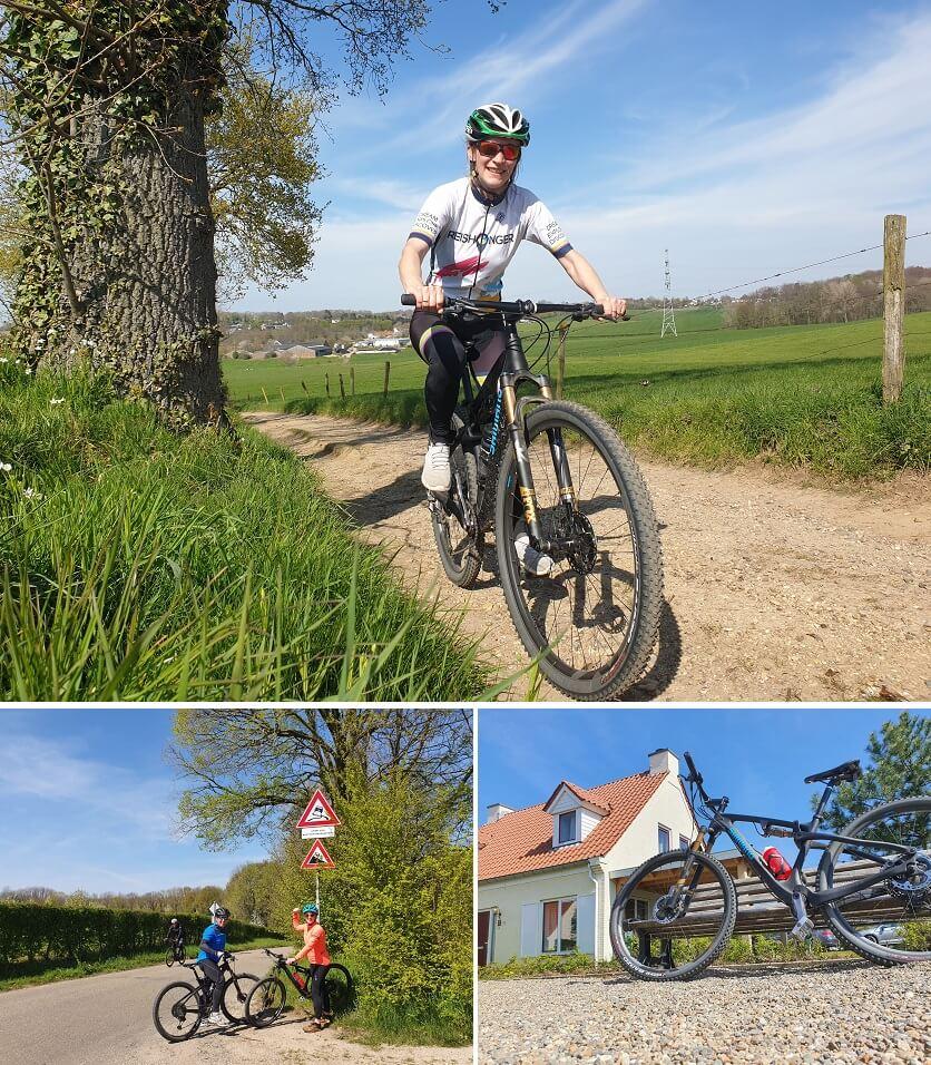 Met de mountainbike crossen over de mosgroene heuvels van Limburg