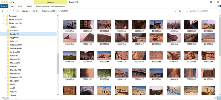 foto's bewaren op je PC