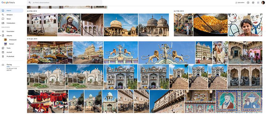 Foto's bewaren en beheren met Google photo's