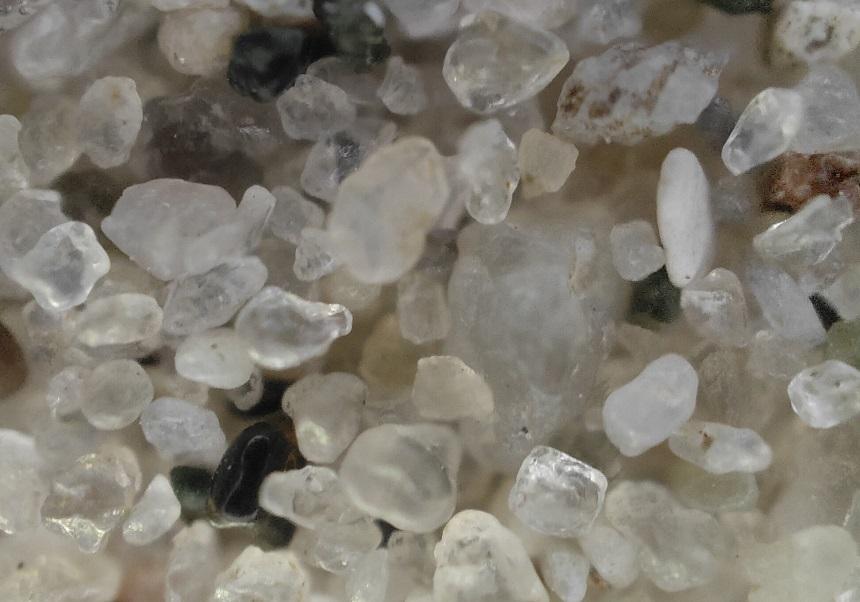 microscoop zandkorrel