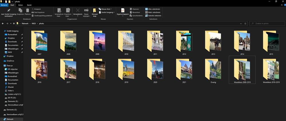 Foto's bewaren op een NAS server