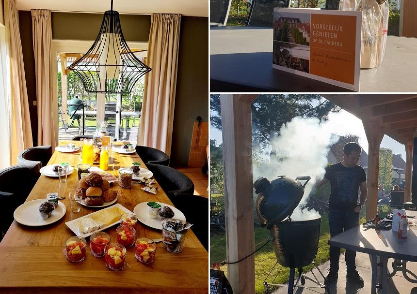 Ontbijten en barbecueën op Landal Kasteeldomein De Cauberg