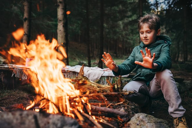 wild camping children