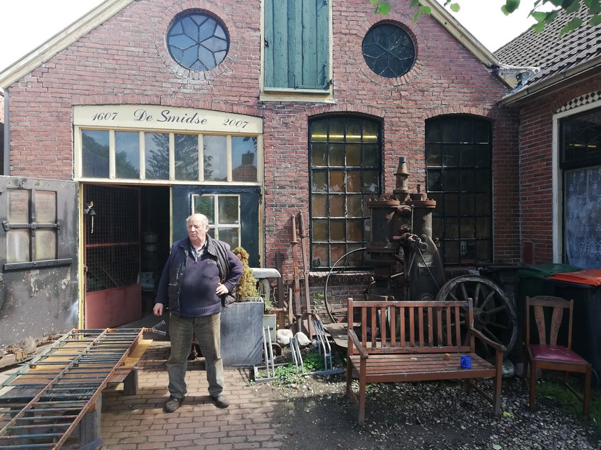 De oude smidse in Oudeschans - grensfietsen in Groningen