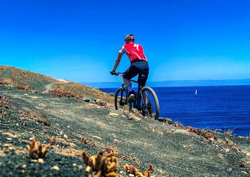 Mountainbiken op Lanzarote