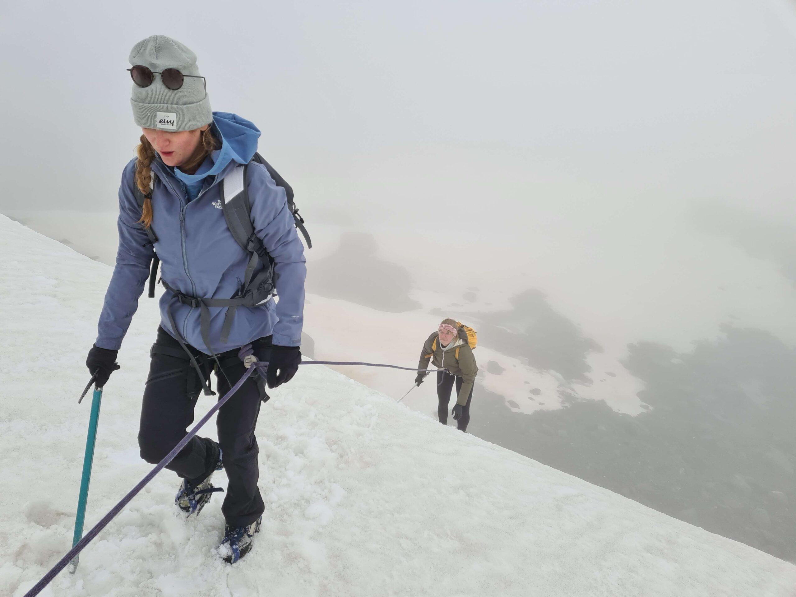 De uitdagingen tijdens de beklimming van de gletsjer in Val Thorens