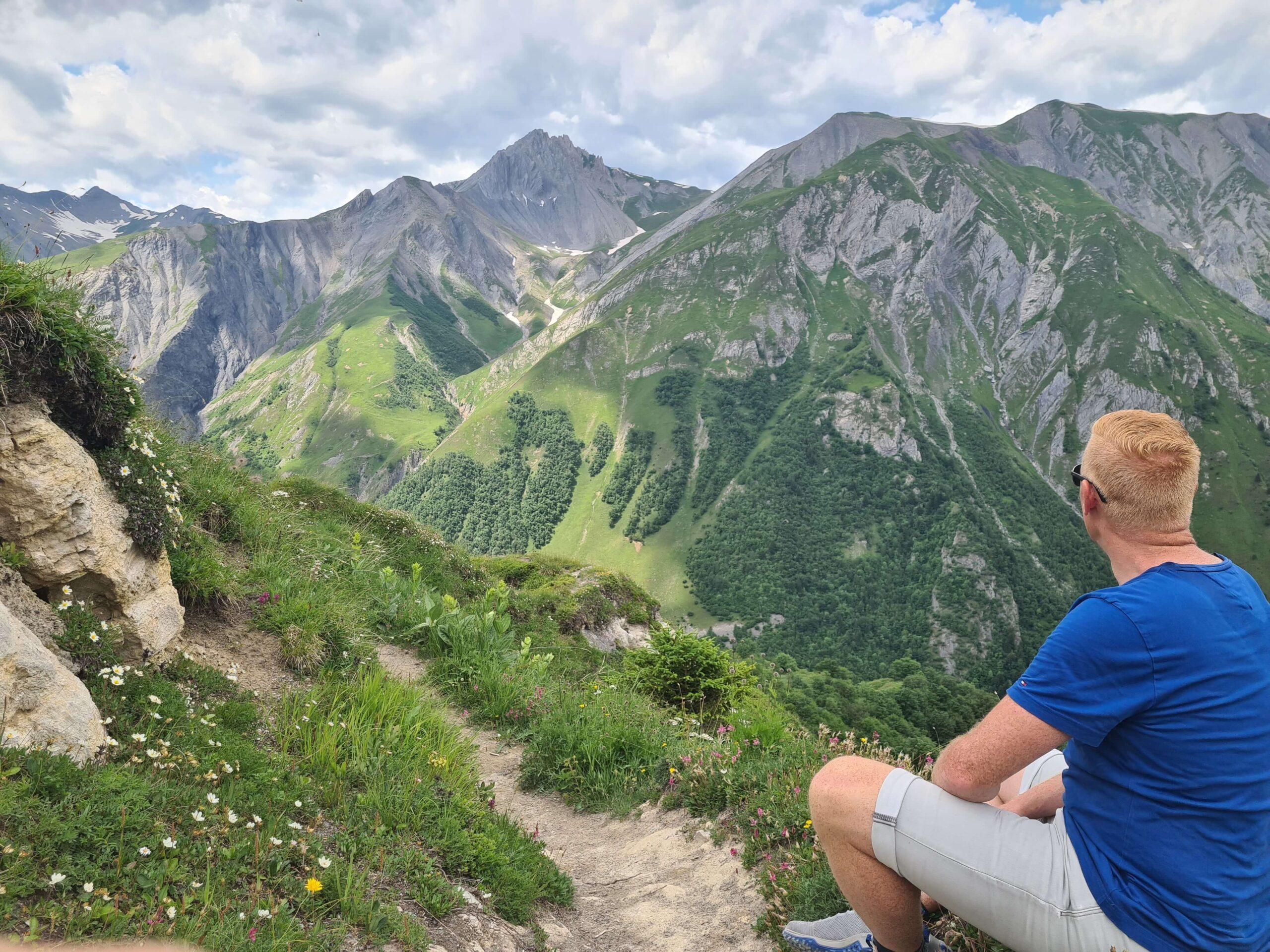 Indrukwekkend panoramisch uitzicht op het Écrins-massief en de hoge toppen van de Vanoise