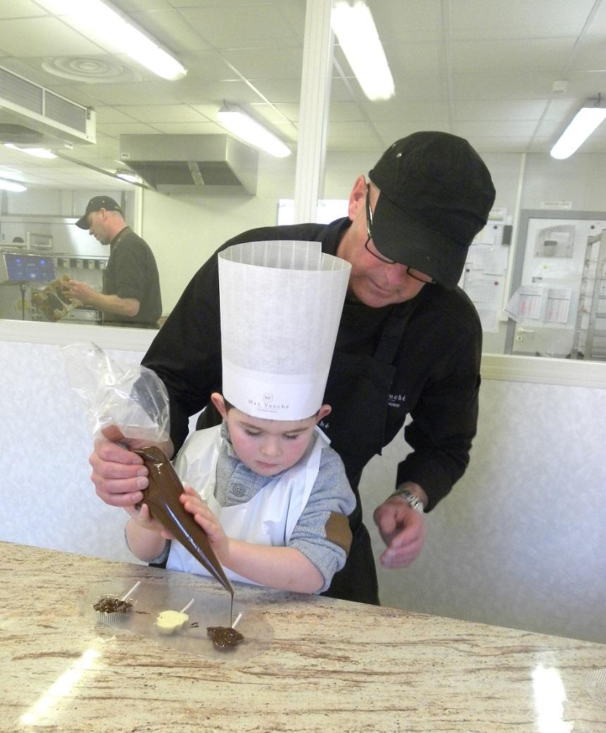 Atelier chocolat pour enfants à la chocolaterie - Max Vauché