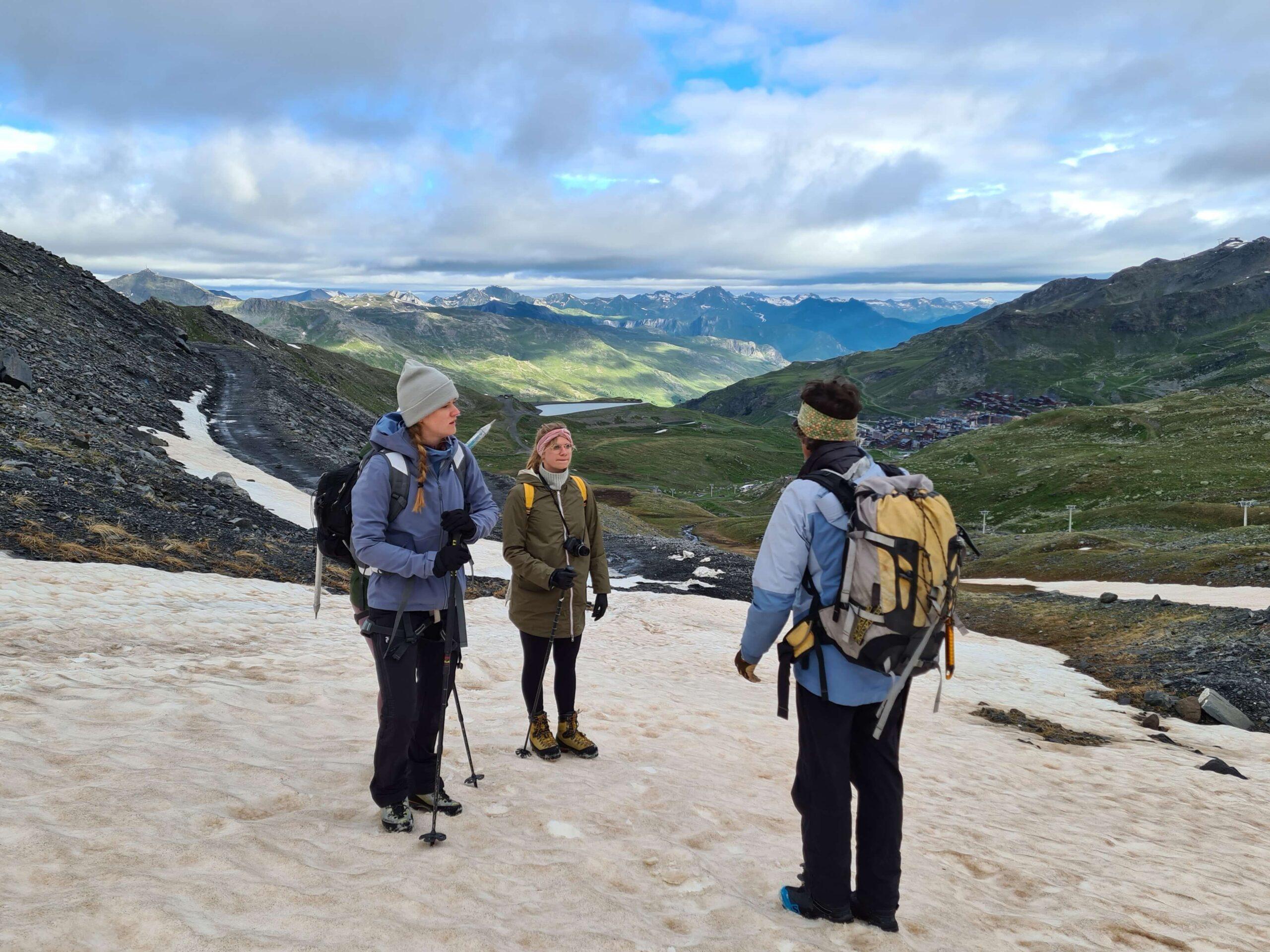 De gletjserwandeling vanuit Val Thorens is een ideale manier om kennis te maken met bergbeklimmen