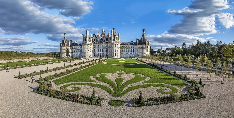 Tuinen bij het kasteel van Chambord