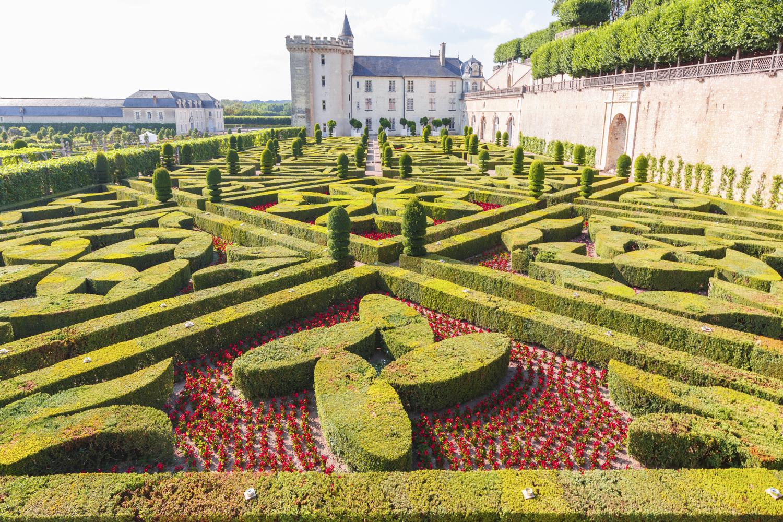 Tuinen bij het kasteel van Villandry