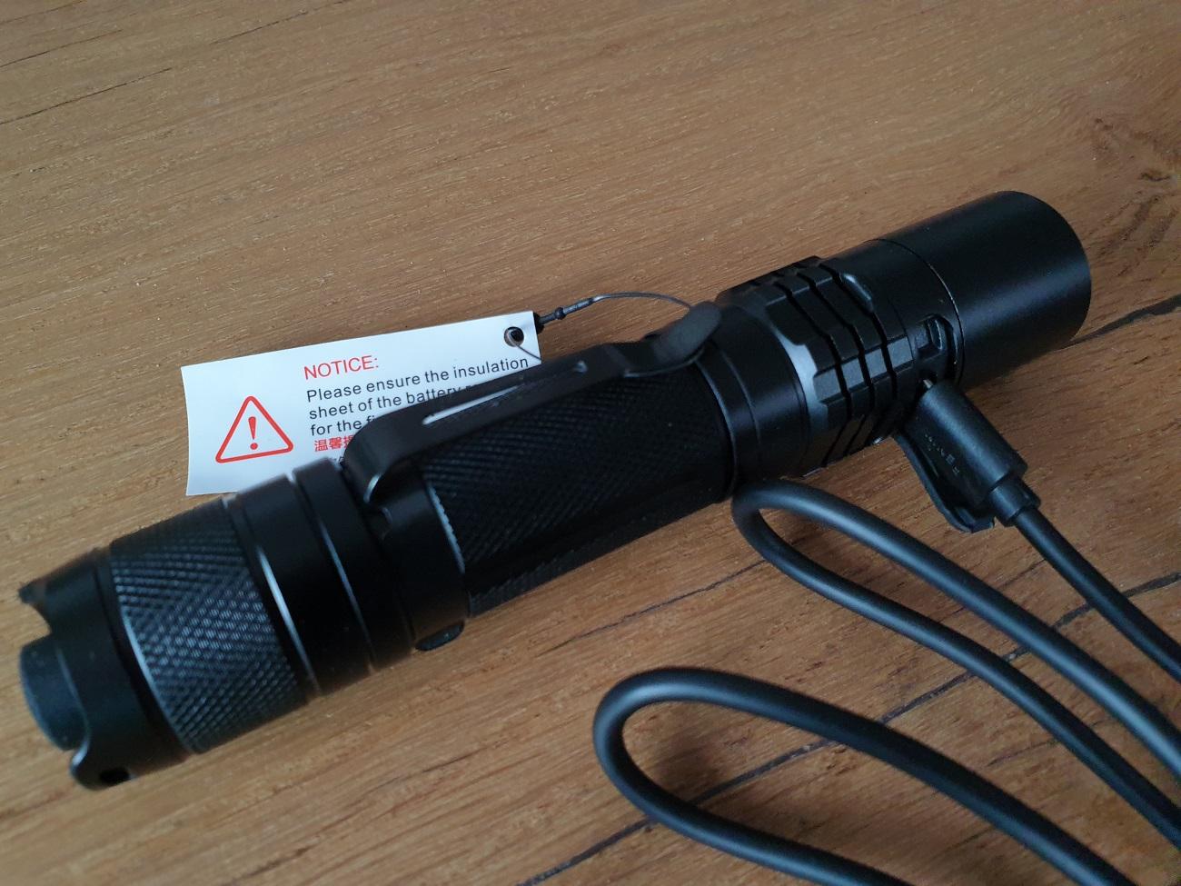 USB oplaadbare zaklamp