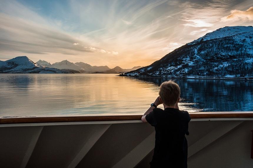 Typisch beeld tijdens de Hurtigruten reis