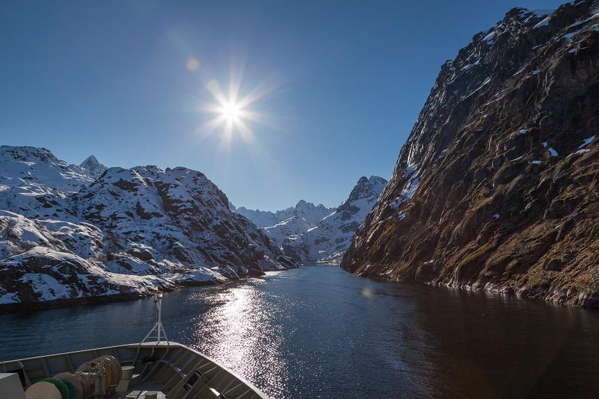 Hurtigruten Trollfjorden, foto van Aslak Tronrud