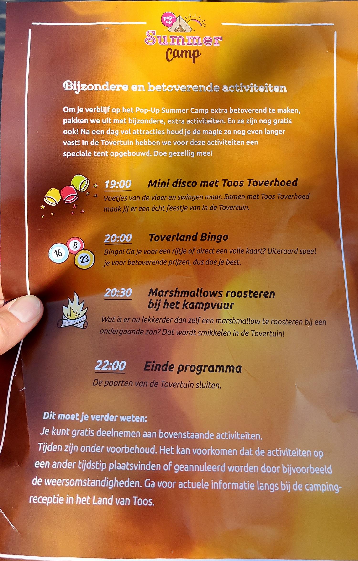 programma Toverland Summer Camp